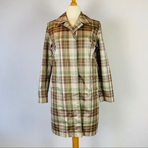 Plaid Light Weight Wind Breaker M Maternity